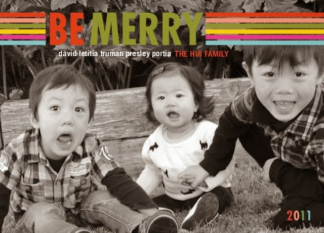 Be Merry Holiday card 2011