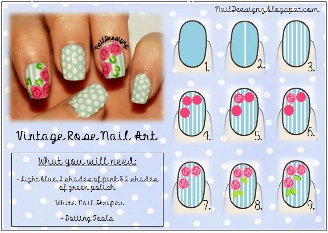 Naildeesignz vintage rose nail art more pictures of my design prinsesfo Gallery