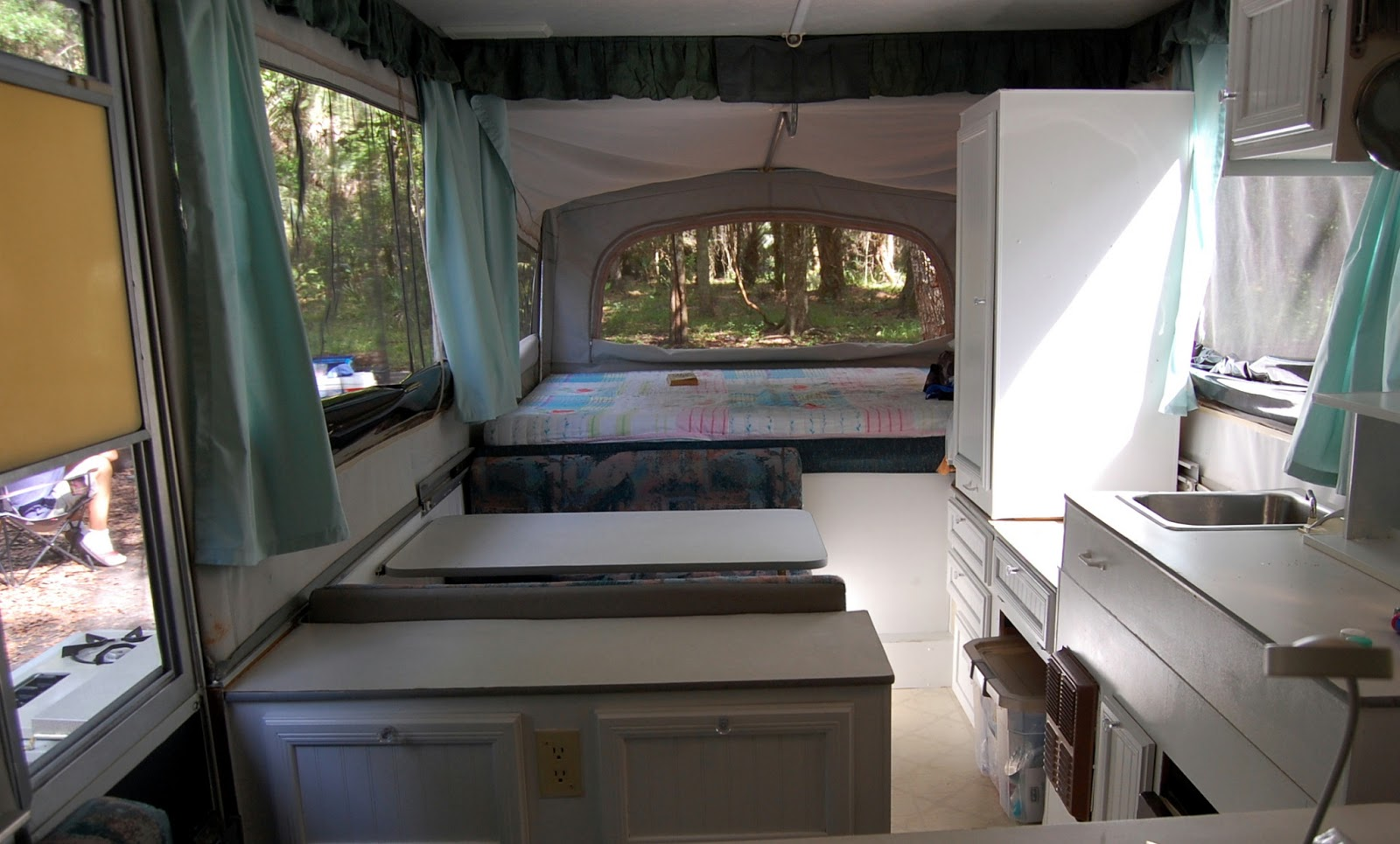 Pop Up Camper Progress Update  Before  Remodel Round 1. Because I m Me