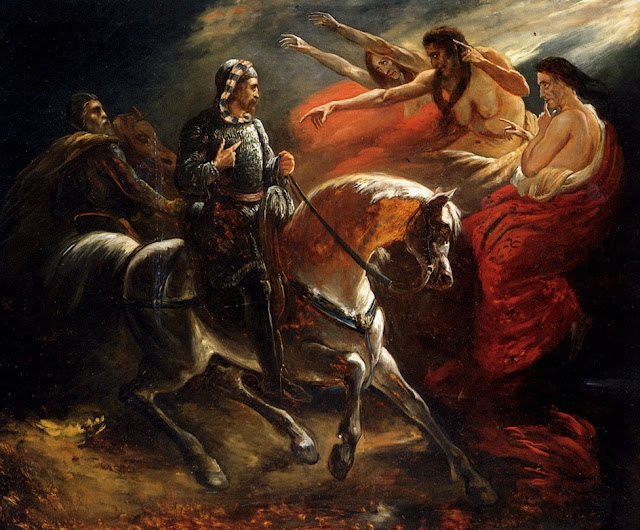 ary scheffer, macbeth,shakespeare.