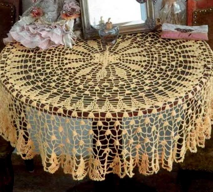 Free Crochet Tablecloth Patterns : Crochet Art: Crochet Tablecloth Free Pattern - Fine