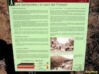 Rètol informatiu sobre el Camí del Foment. Autor: Carlos Albacete