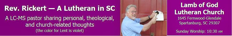 Rev. Rickert - A Lutheran in SC