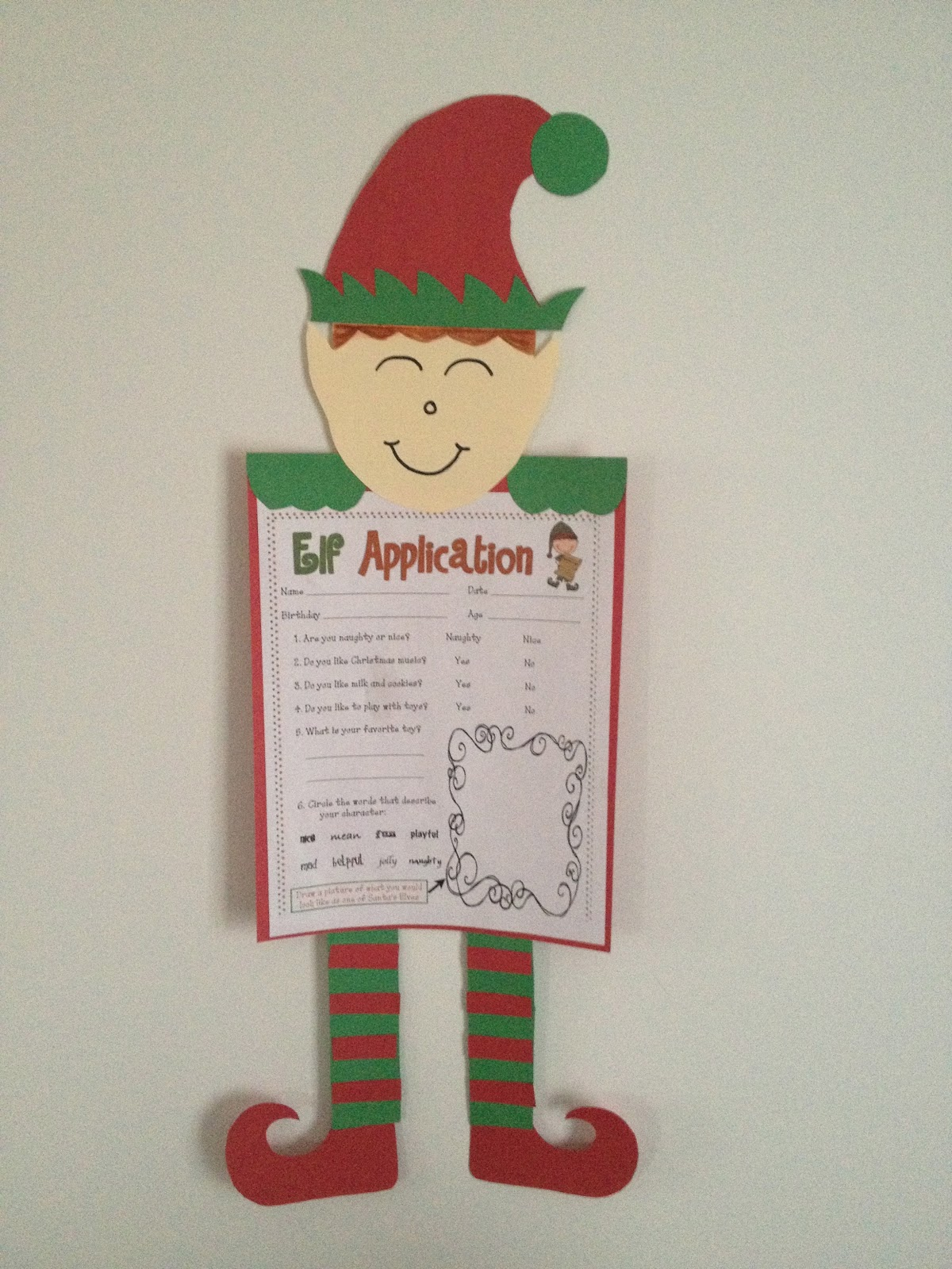 Christmas art activities for first grade if i were an for 3rd grade christmas craft ideas
