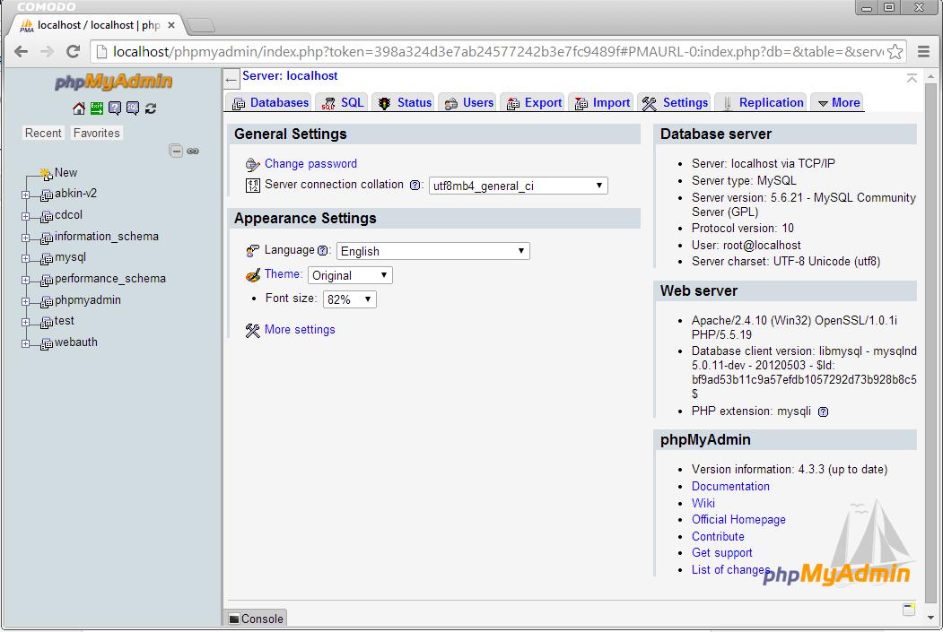 membuat database mysql dari phpmyadmin
