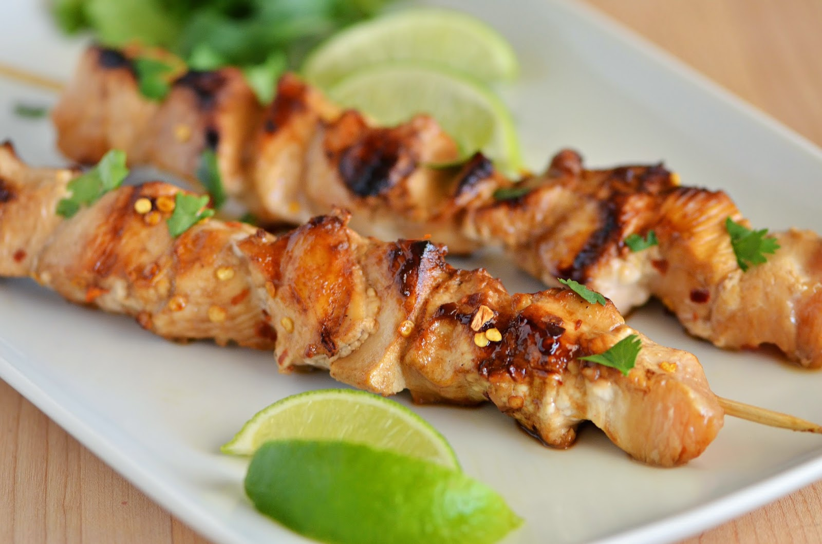 Honey Chicken Skewers Recipe — Dishmaps