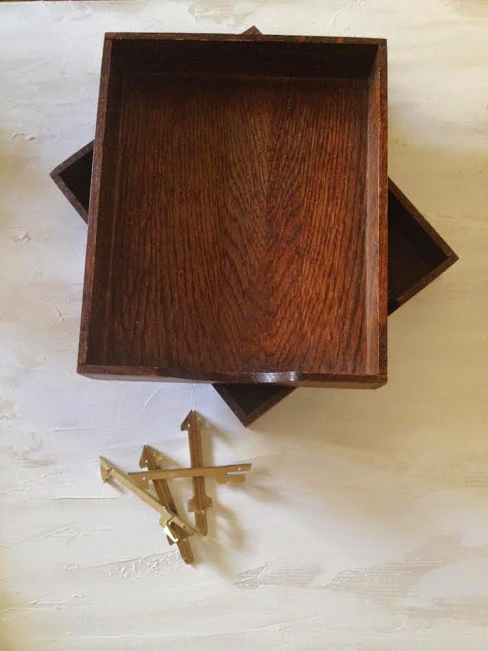 Goodwill Drab To Modern Fab Tabletop Shelf Makeover Our
