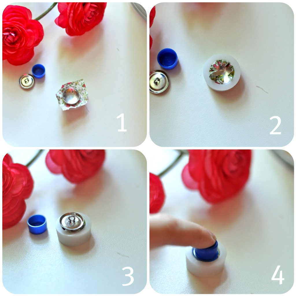 Hair Bow Center Buttons 77