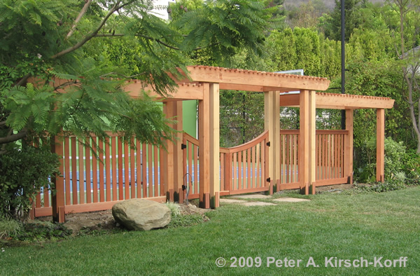 Wood Arbors with Gates