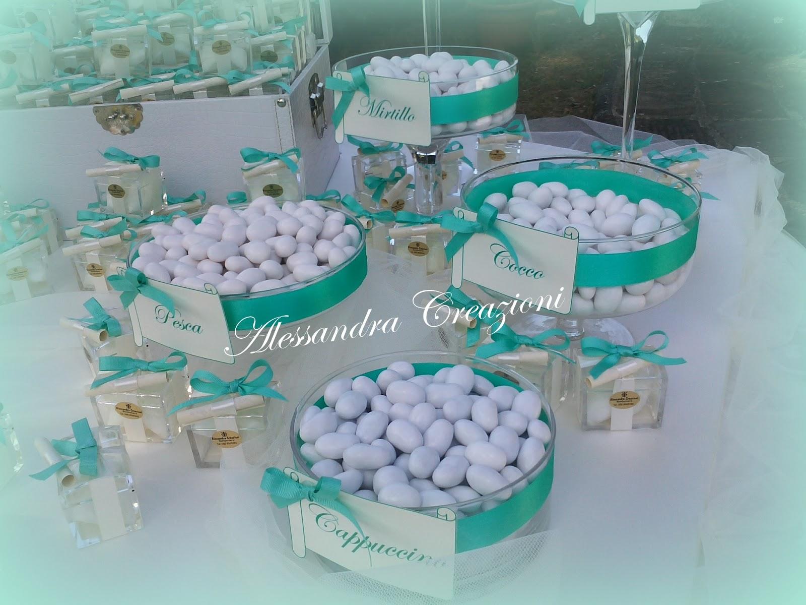 Partecipazioni Matrimonio Azzurro Tiffany : Alessandra creazioni un matrimonio color tiffany
