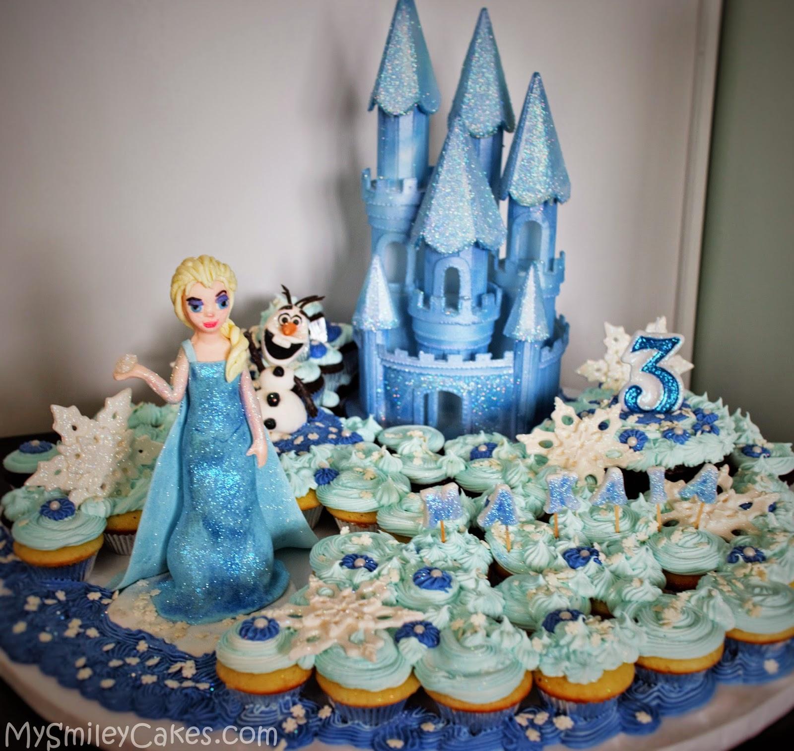 Disney Frozen Themed Cupcake CakeFrozen Cupcake Cake