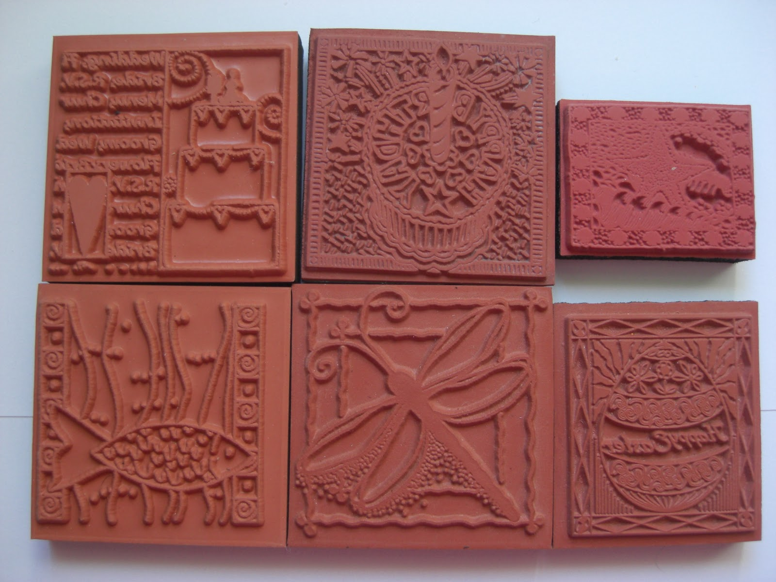 Crafty clutter clearance black foam backed rubber stamps