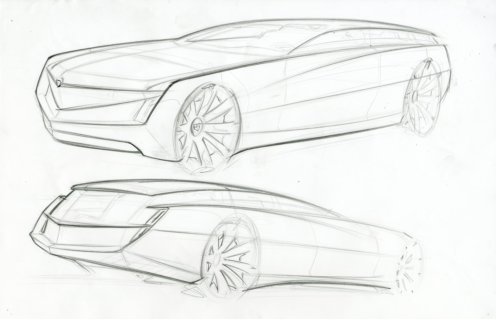 cadillac sketches