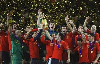 selección española de fútbol campeona del Mundo 2010