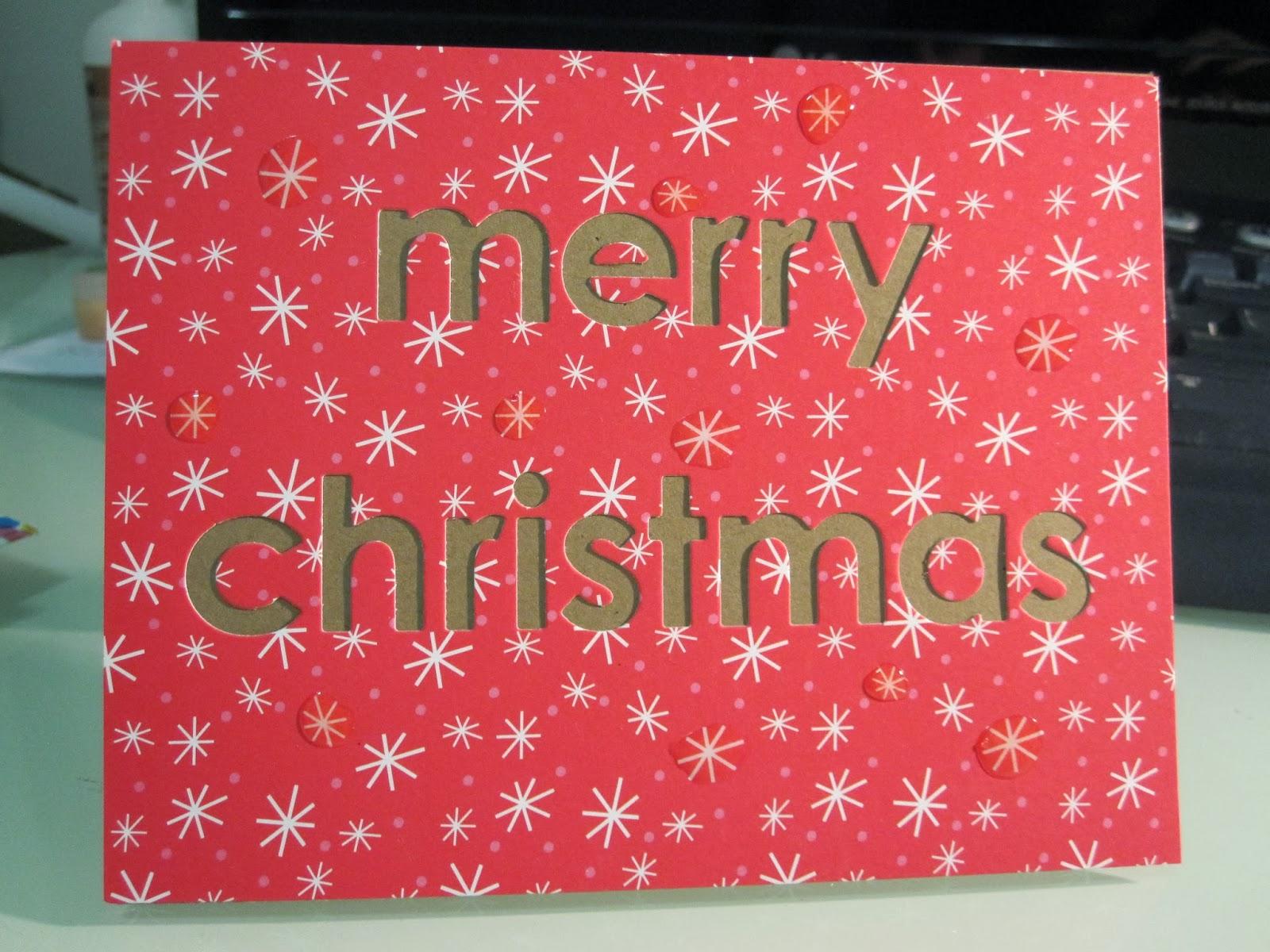 bernmakes - Handmade Cards by Bern: Quick Die Cut Christmas Card ...