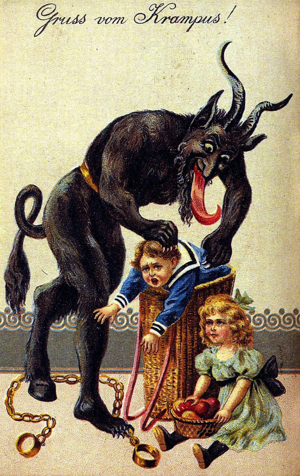 http://theoddmentemporium.tumblr.com/post/37409112386/krampus-is-a-mythical-creature-recognized-in