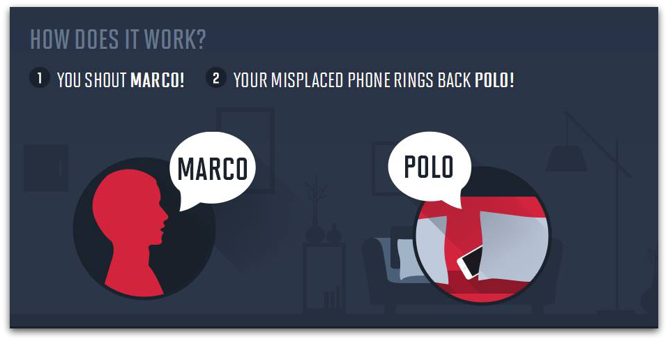 "App iphone ""Marco-Polo"" Donde está mi móvil"