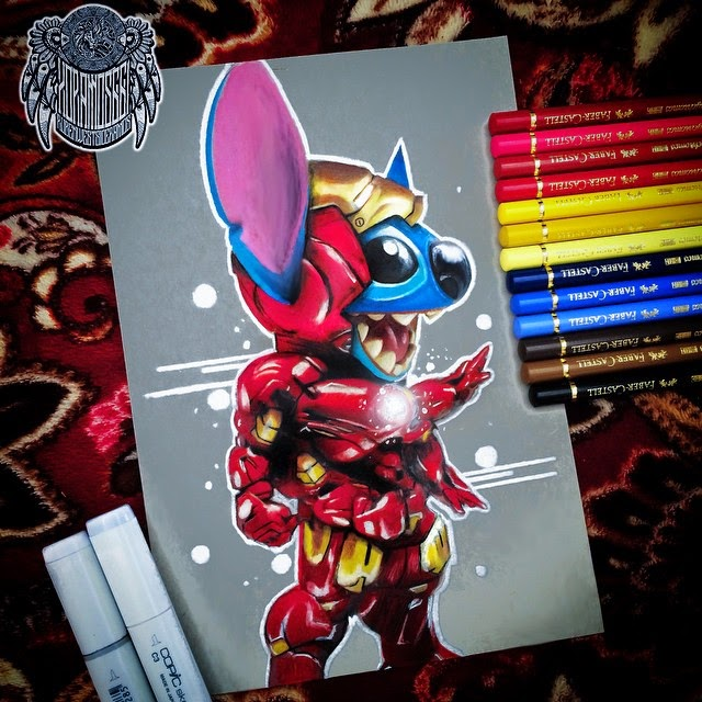08-Stitch-Ramos-Ruben-xoramos661-Photo-Real-Comic-Book-Coloured-Drawings-www-designstack-co