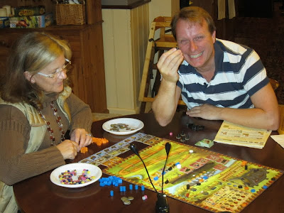 Caylus - An enthusiastic Martin sensing his victory even at this early stage of the game