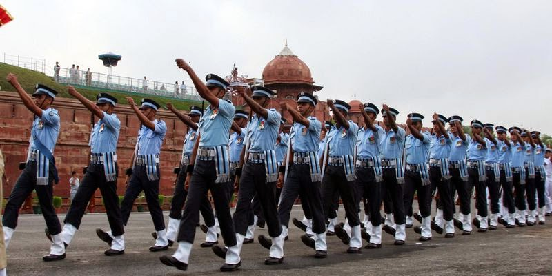 March at Red Fort