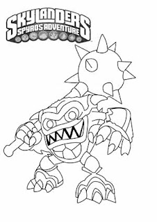Skylanders Wham-Shell Coloring Pages