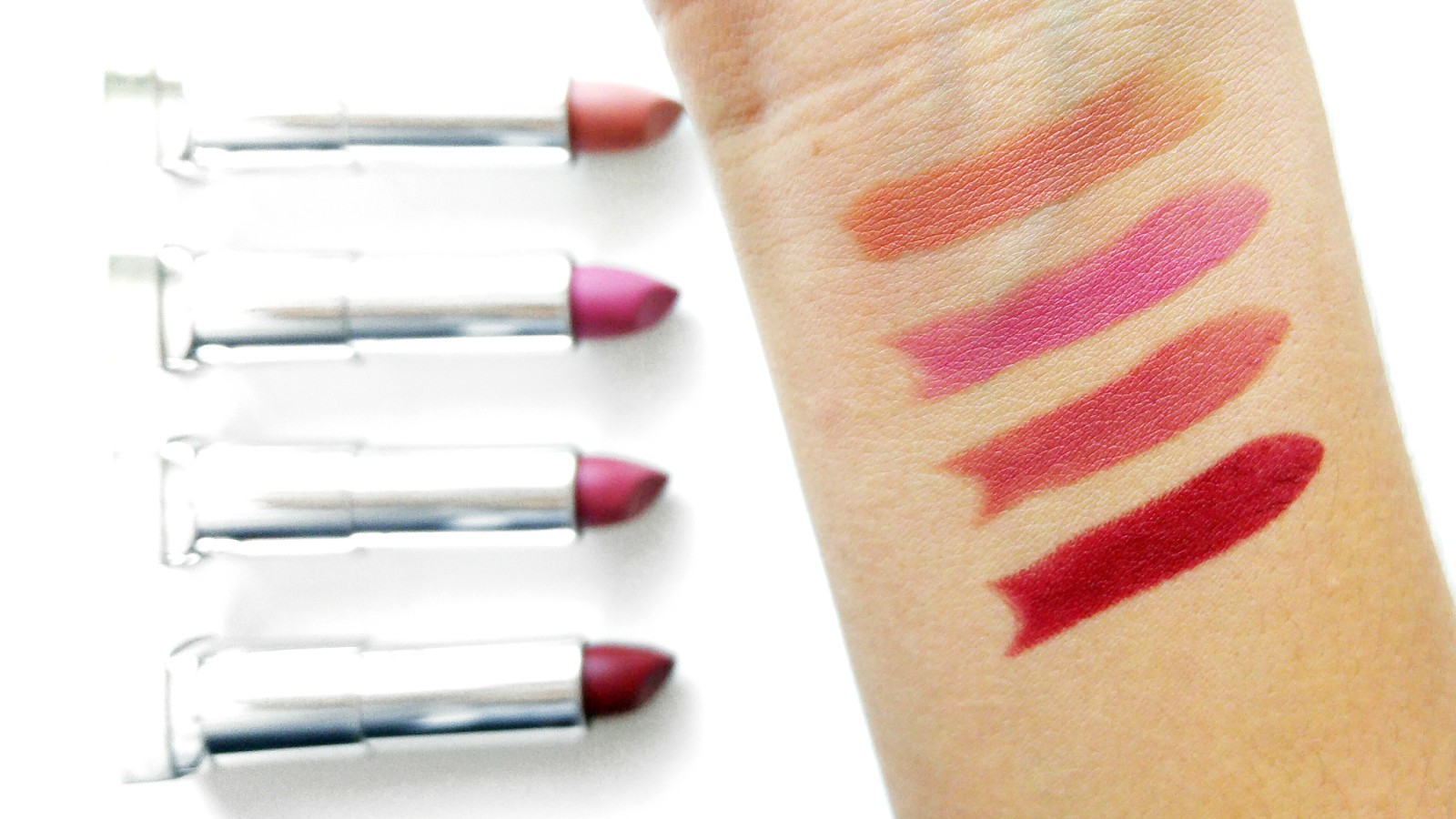 Maybelline Creamy Matte Lipsticks Swatched and Reviewed