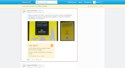 Foursquare nos permite añadir un enlace y un par de fotos en la web de nuestro sitio. Podemos aprovechar y crear una promoción.