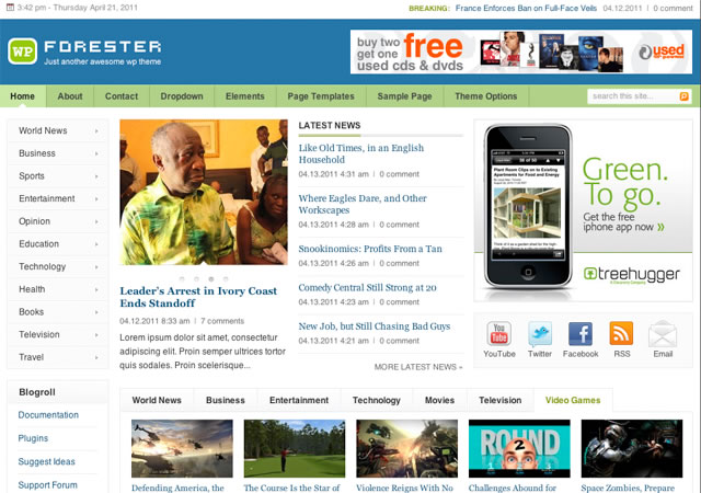 Forester - Magazine WordPress Theme Free Download by ThemeJunkie.