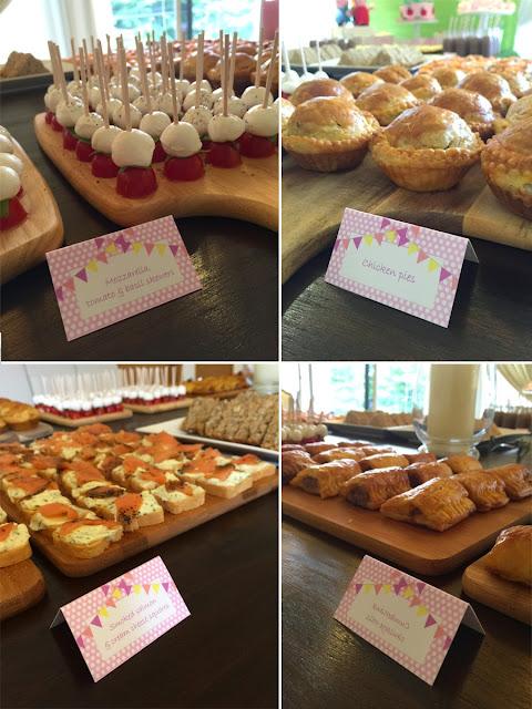 Peppa Pig Themed Birthday food
