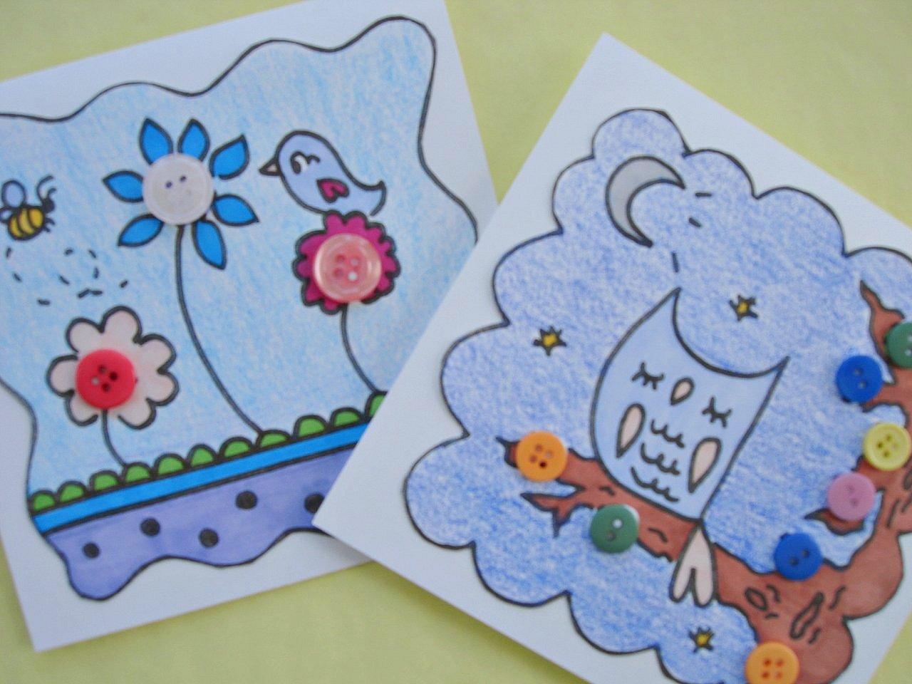 Открытки нарисовать с детьми своими руками 835