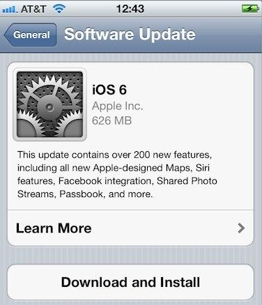 iOS 6 IPSW Firmware