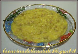 polenta con ceci e salsiccia