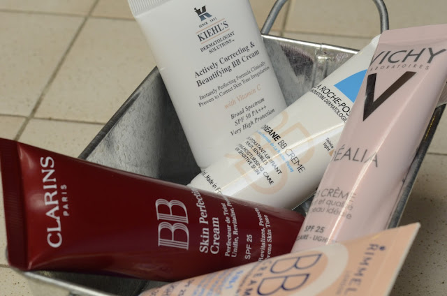 Clarins BB cream, Kiehl's BB Cream, La Roche Posay BB Cream, Vichy BB Cream, Rimmel BB Cream