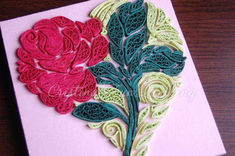 Как сделать розу из квиллинга своими руками 52