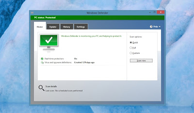 Antivirus yang diintegrasikan dengan Windows Defender