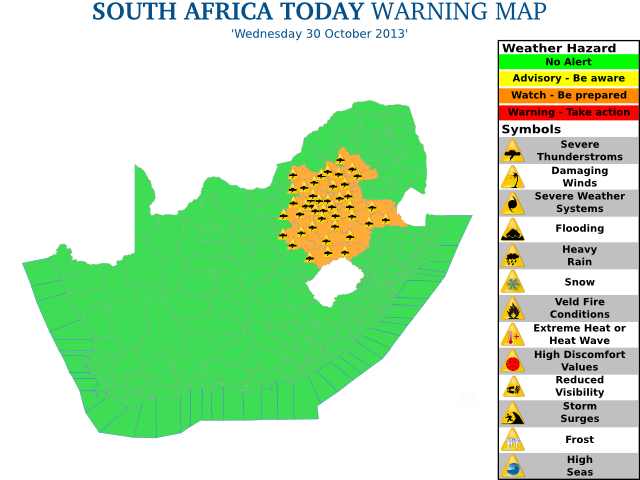 Mossel Bay Weather Observation South Africa Sa National Severe