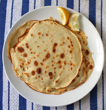Yogurt crepes for pancake day