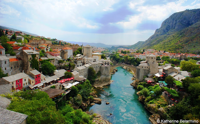 View of Mostar from Koski Mehmed-Pasha Mosque's Minaret, Bosnia and Herzegovina