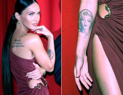 megan fox tattoos marilyn. megan fox tattoos marilyn.