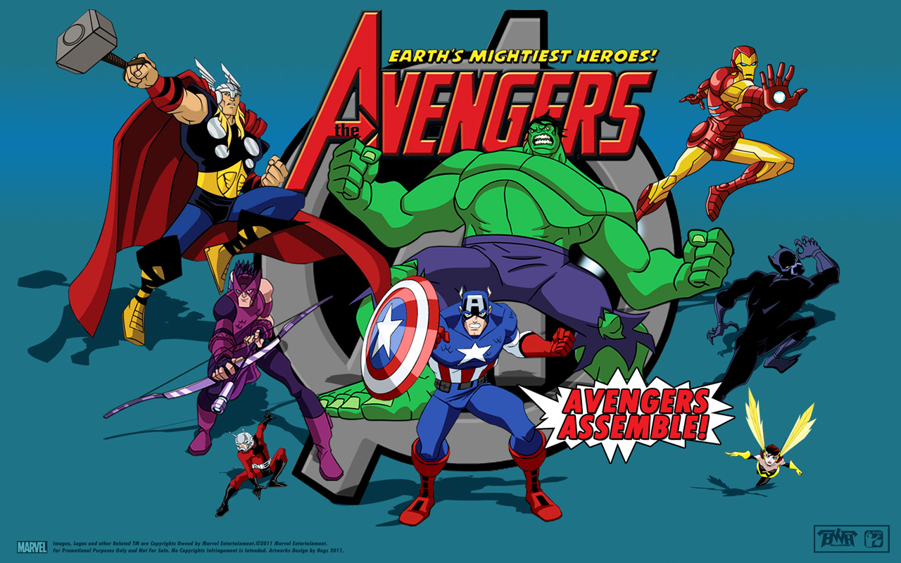Avengers Cartoon Wallpaper