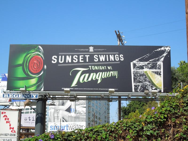 Sunset Swings Tanqueray billboard