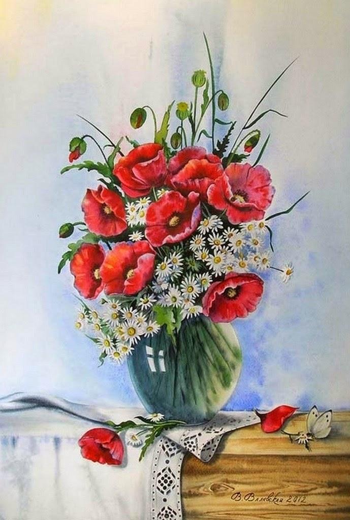 Cuadros modernos pinturas cuadros de ramos de flores oleo - Ramos de flores modernos ...