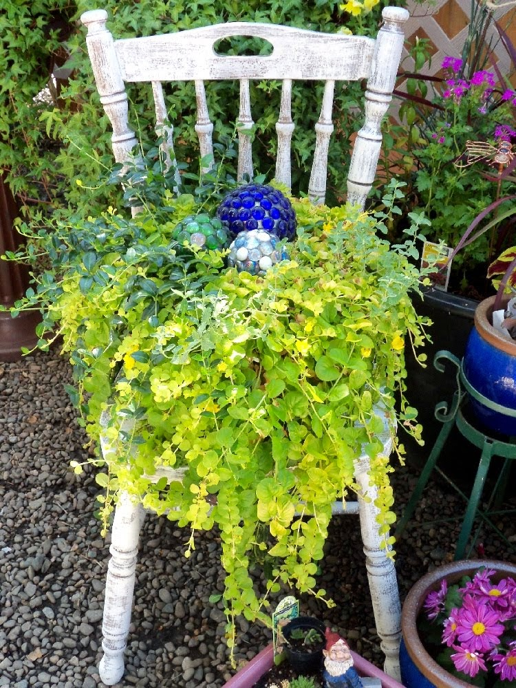 DIY Chair Planter Four Years Later