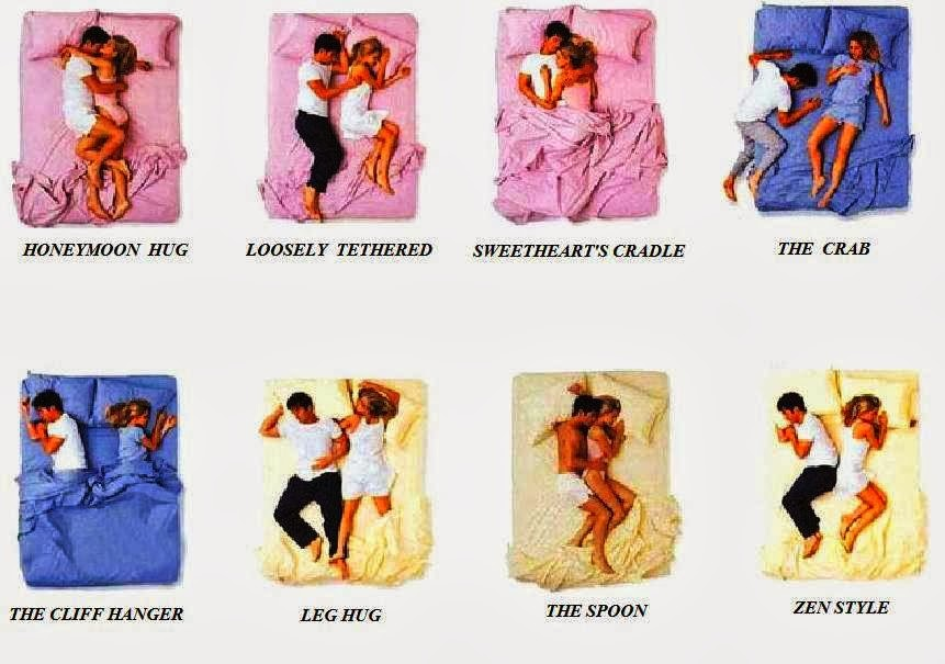 Couple cuddling positions