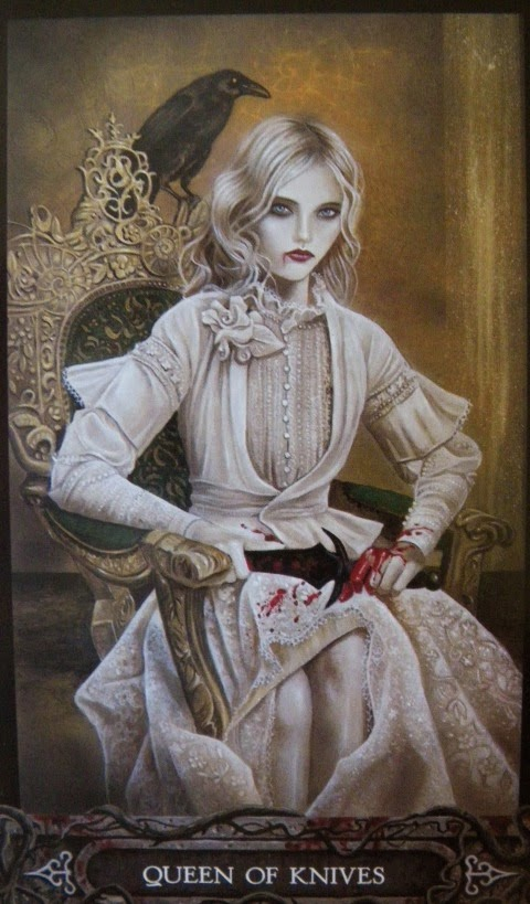 queen of swords vampyre tarot, i am your fantasy