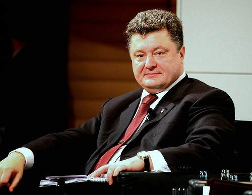 Ukraine's post-coup president, Petro Poroshenko. (Photo by Global Panorama)