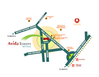 Avida Towers Intima Location Map