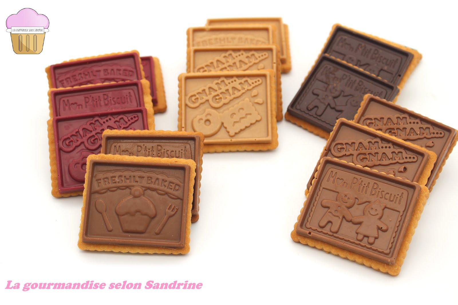 """Les petits-beurre façon """"PETITS ÉCOLIERS"""" au chocolat"""