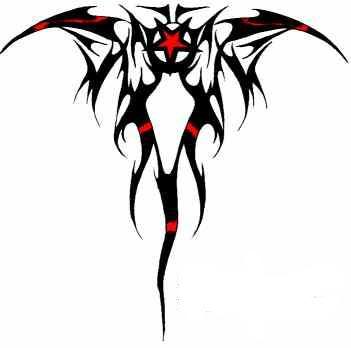 Tribal alas de dragón con estrella