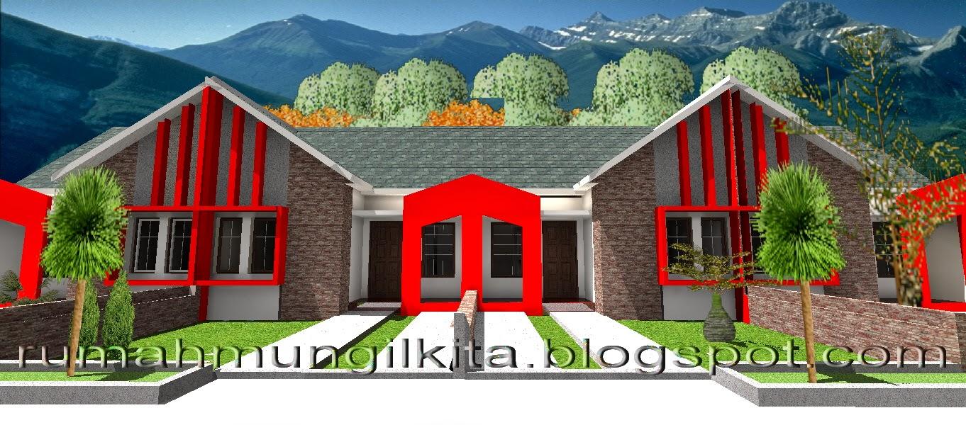 Desain Rumah Tipe 36 Tanah 72 (1Lantai, 2 Kamar Tidur, 1 Kamar Mandi)